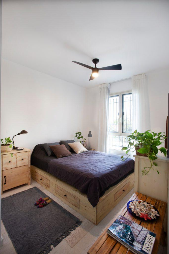 חדר שינה בעיצוב סמי כנפו
